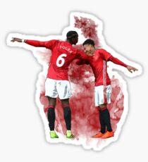 Pogba and Lingard Art - Dab Sticker