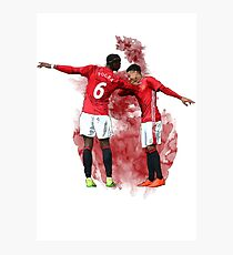 Pogba and Lingard Art - Dab Photographic Print