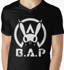 BAP LOGO Warrior Begins Men's V-Neck T-Shirt
