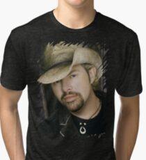 Toby Keith - Celebrity (Oil Paint Art) Tri-blend T-Shirt