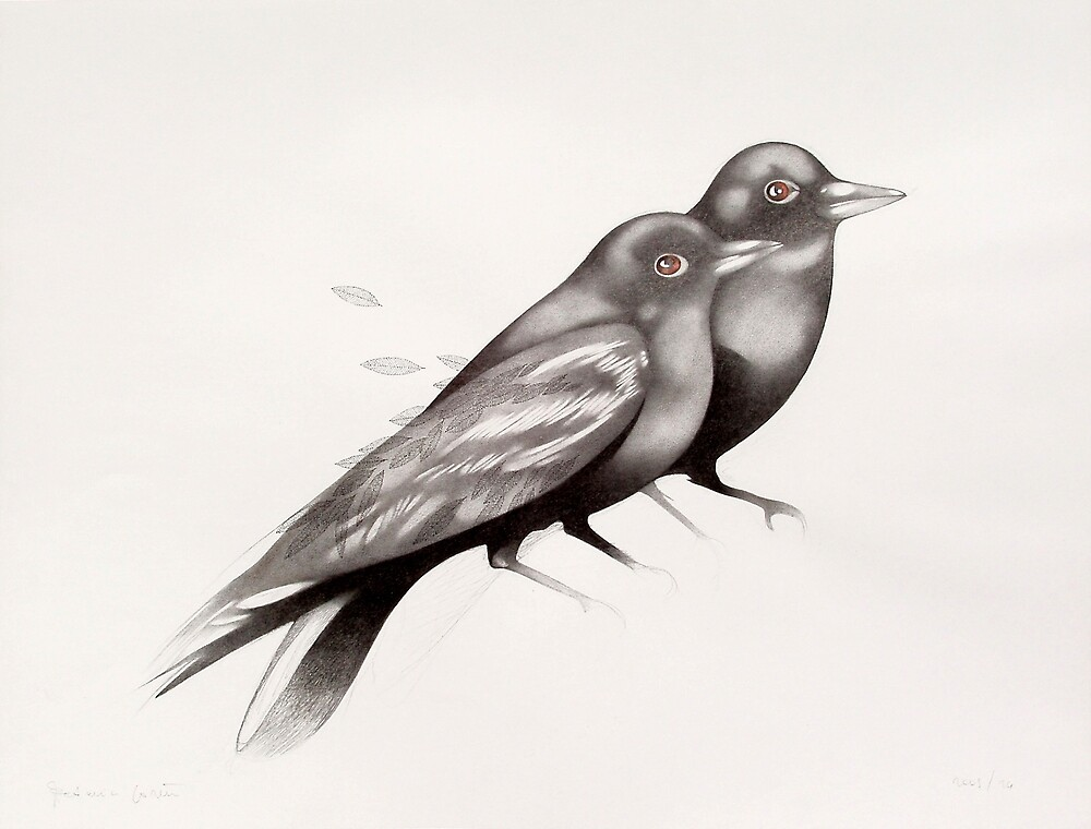 two ravens  (original sold) by federico cortese
