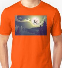 Flying Witch in the Woods Unisex T-Shirt