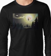 Flying Witch in the Woods2 Long Sleeve T-Shirt