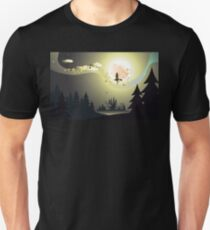 Flying Witch in the Woods2 Unisex T-Shirt