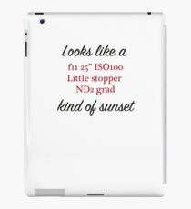 Photographers sunset iPad Case/Skin