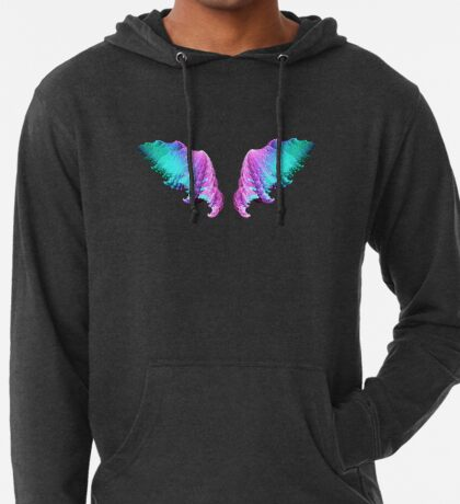 Wings #fractal art Lightweight Hoodie
