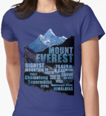 Mount Everest Women's Fitted T-Shirt