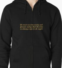"We must use time... ""Nelson Mandela"" Inspirational Quote Zipped Hoodie"