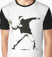 Banksy- Flower Thrower Graphic T-Shirt