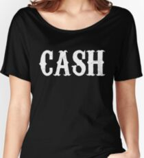 johnny cash man in black country rock pop icon folsom prison ring of fire rock lyrics cool t shirts Women's Relaxed Fit T-Shirt