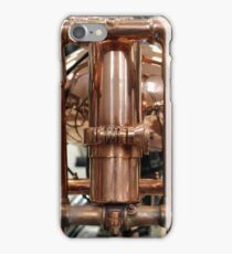 Classic vintage Jap motorcylce photograph close up, showing all the copper detail iPhone Case/Skin