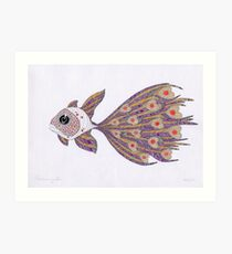 Fish of hearts  (original sold) Art Print