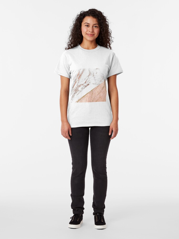 Alternate view of Rose gold marble blended Classic T-Shirt