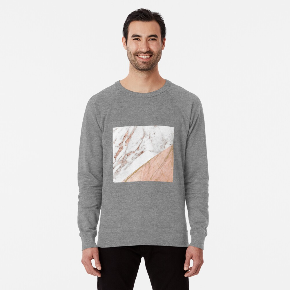Rose gold marble blended Lightweight Sweatshirt