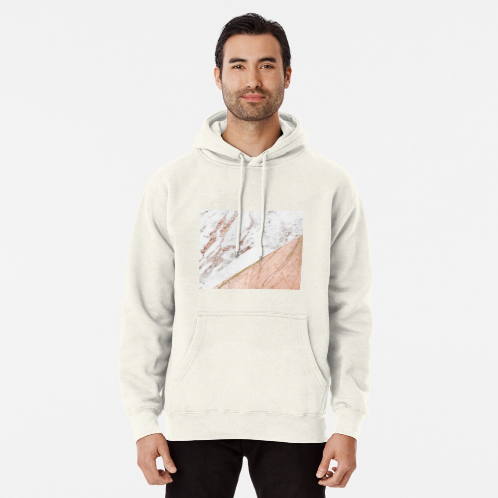 Rose gold marble blended Pullover Hoodie