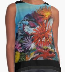 Colorful corals and seafloor Contrast Tank