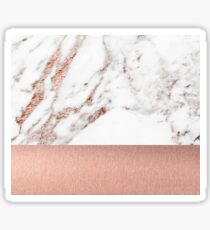 Rose gold marble and foil Sticker