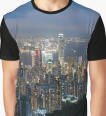 Hong Kong By Night Graphic T-Shirt