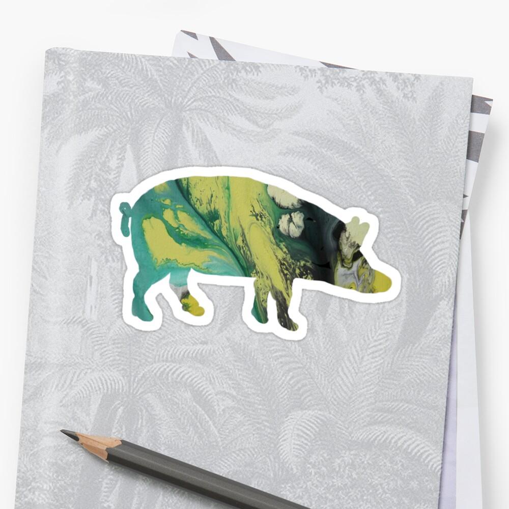 Pig / Wild boar silhouette by MordaxFurritus