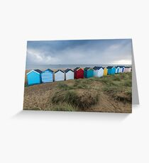 Colourful Beach Huts at Southwold Greeting Card