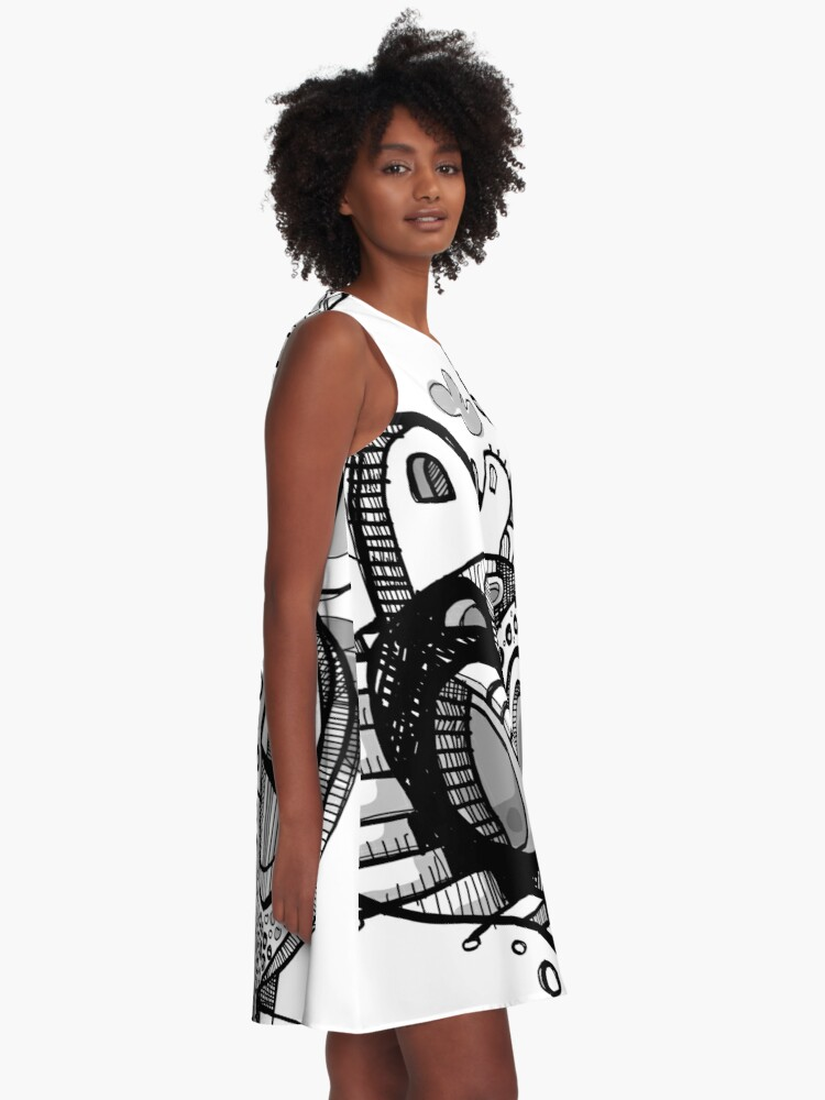 Alternate view of Death Stair A-Line Dress