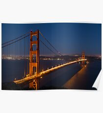 Golden Gate By Night Poster