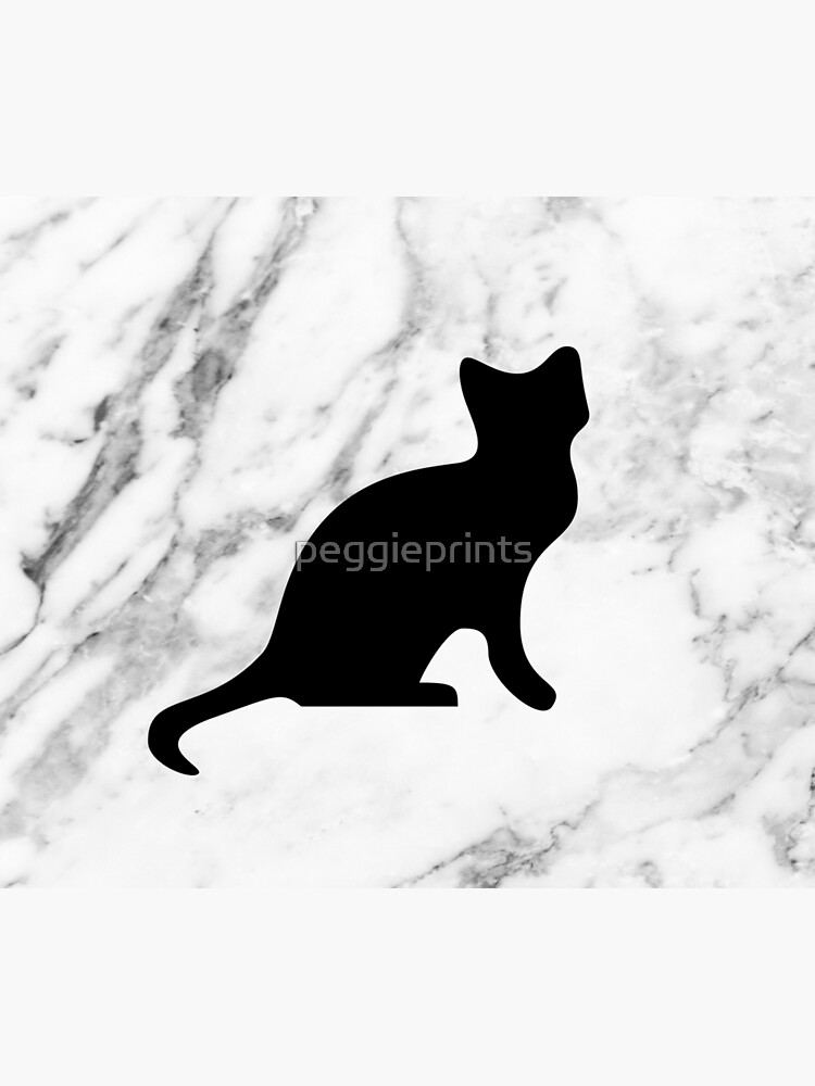 Cat on marble by peggieprints
