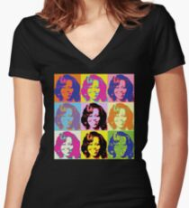 Michele Obama FLOTUS  Women's Fitted V-Neck T-Shirt
