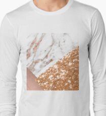 Mehrschichtiges Roségold Langarmshirt