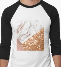 Layered rose gold Men's Baseball ¾ T-Shirt