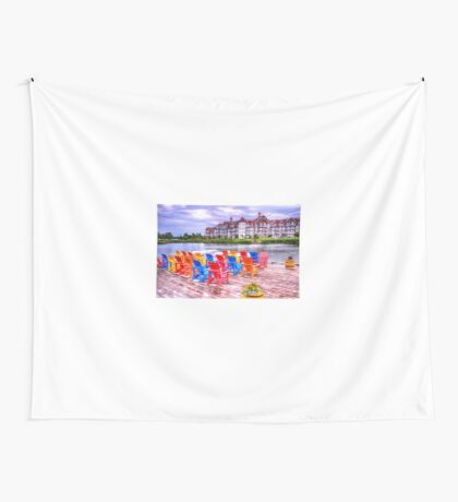 The dock at Blue Mountain Wall Tapestry
