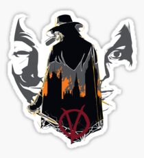 V for Vendetta 2nd Version. Sticker