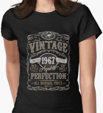 Made In 1967 Birthday Gift Idea Womens Fitted T-Shirt