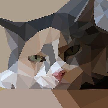 polygon art cat by polyart