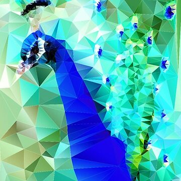 polygon art peacock by polyart