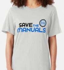 Save The Manuals (3) Slim Fit T-Shirt