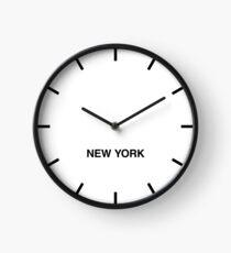Newsroom Wall Clock New York Time Zone Clock
