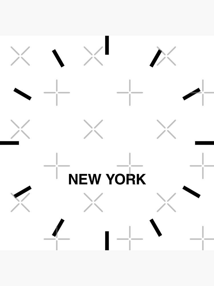 Reloj de pared New York Time Zone Newsroom de bluehugo