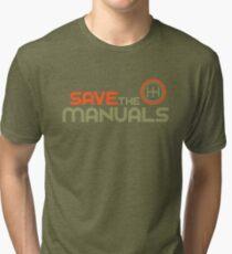 Save The Manuals (4) Tri-blend T-Shirt