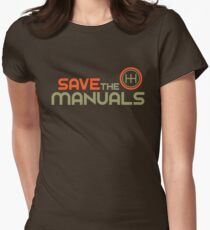 save the manuals 4 womens fitted t shirt - Racing T Shirt Design Ideas