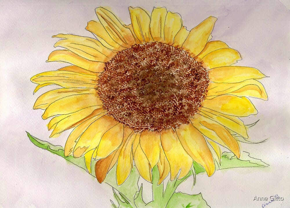 A Sunflower for Lady Liberty.  by Anne Gitto