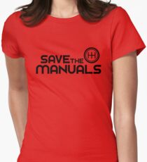 Save The Manuals (7) Women's Fitted T-Shirt