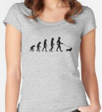 Evolution To Dachshund Funny Women's Fitted Scoop T-Shirt