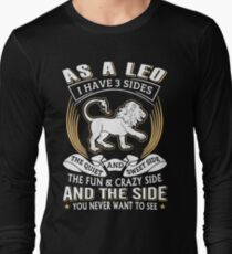 As A Leo I Have 3 Sides T-Shirts T-Shirt