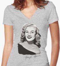 Marilyn Monroe 40s Women's Fitted V-Neck T-Shirt