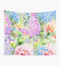 Brazen Virtue / Watercolor Floral Wall Tapestry