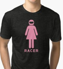 Woman Racer (1) Tri-blend T-Shirt