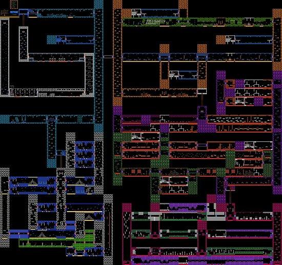 Metroid NES Map By Punkinnonstop