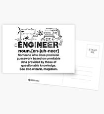 Funny Definition Of An Engineer Postcards