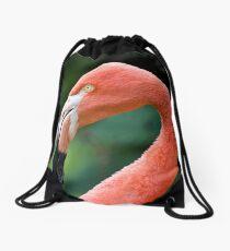 Flamingo Bird Drawstring Bag